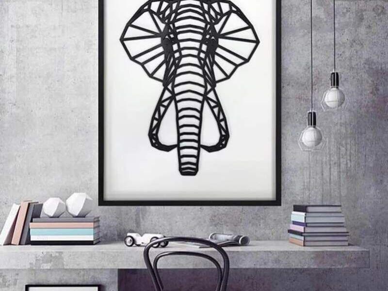Figura Geométrica de madera Elefante