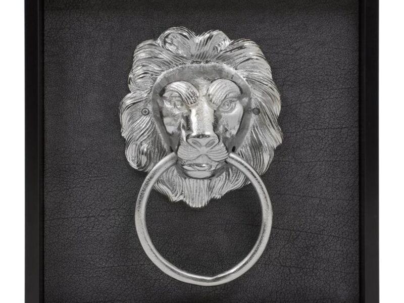 Cuadro decorativo leon plateado MÉXICO DF