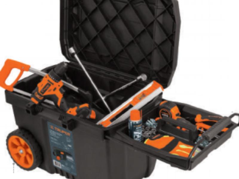 Caja herramienta, plastica, 23′, con ruedas